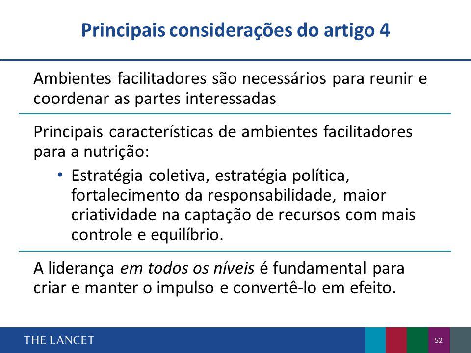 Principais considerações do artigo 4