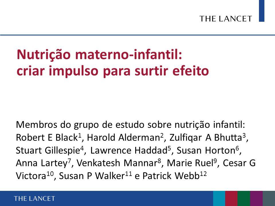 Nutrição materno-infantil: criar impulso para surtir efeito
