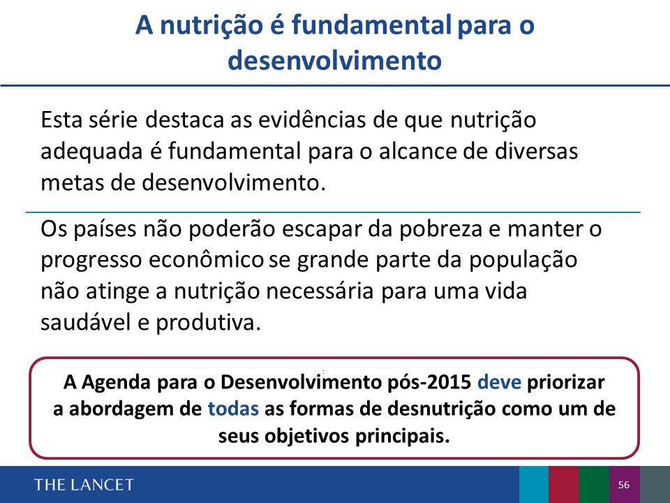 A nutrição é fundamental para o desenvolvimento