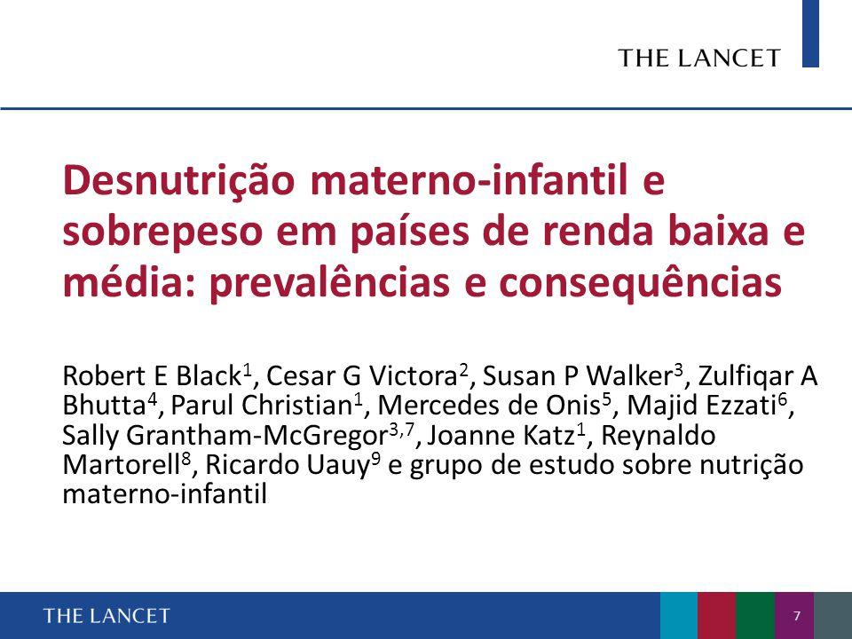 Desnutrição materno-infantil e sobrepeso em países de renda baixa e média: prevalências e consequências