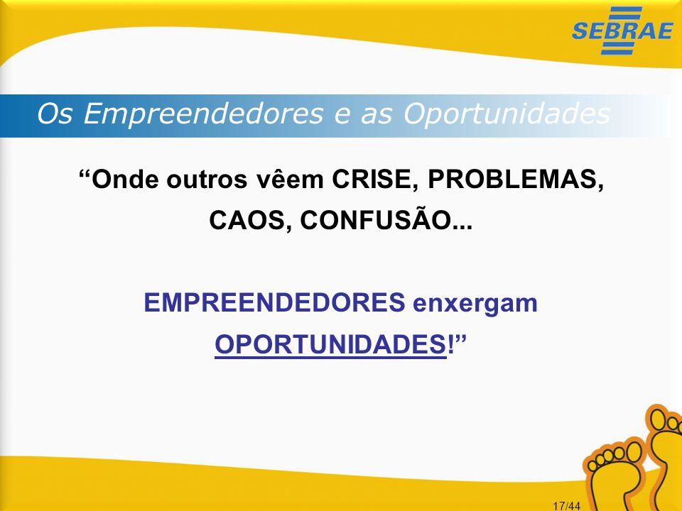 Os Empreendedores e as Oportunidades