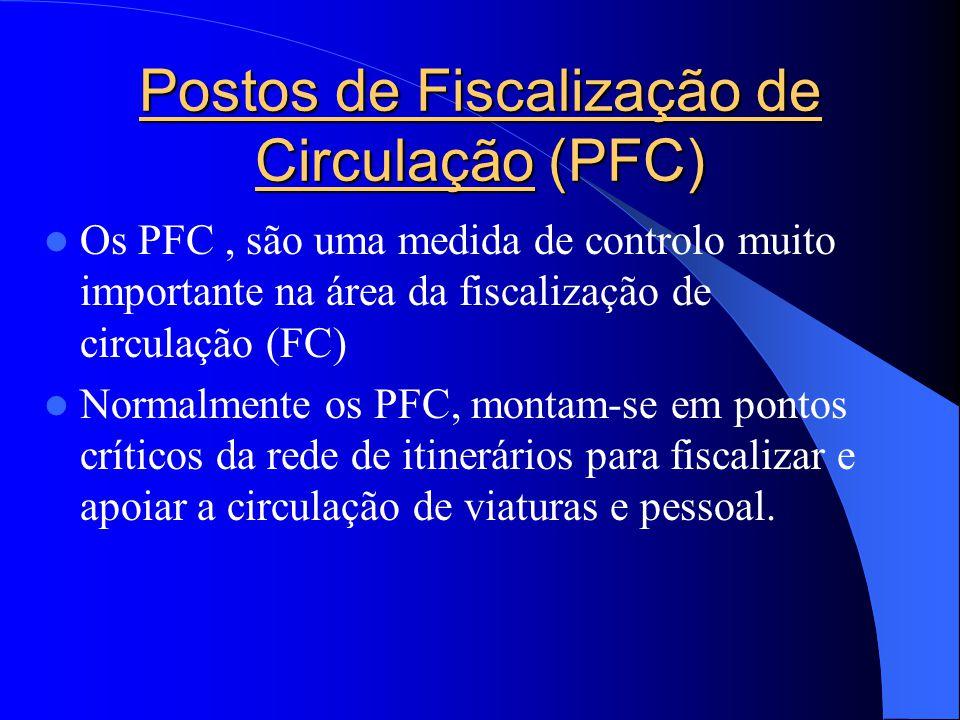 Postos de Fiscalização de Circulação (PFC)