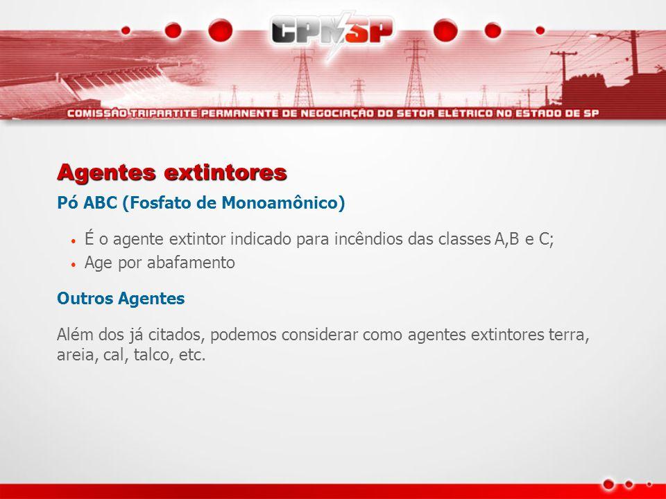 Agentes extintores Pó ABC (Fosfato de Monoamônico)