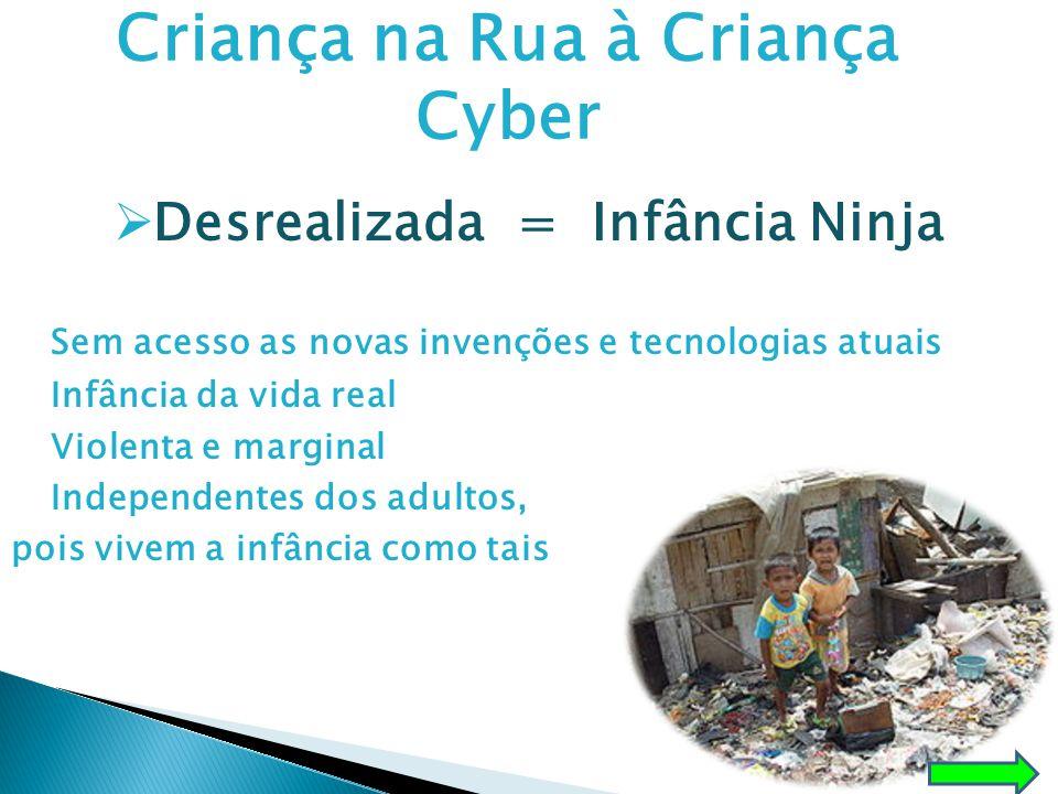 Criança na Rua à Criança Cyber Desrealizada = Infância Ninja
