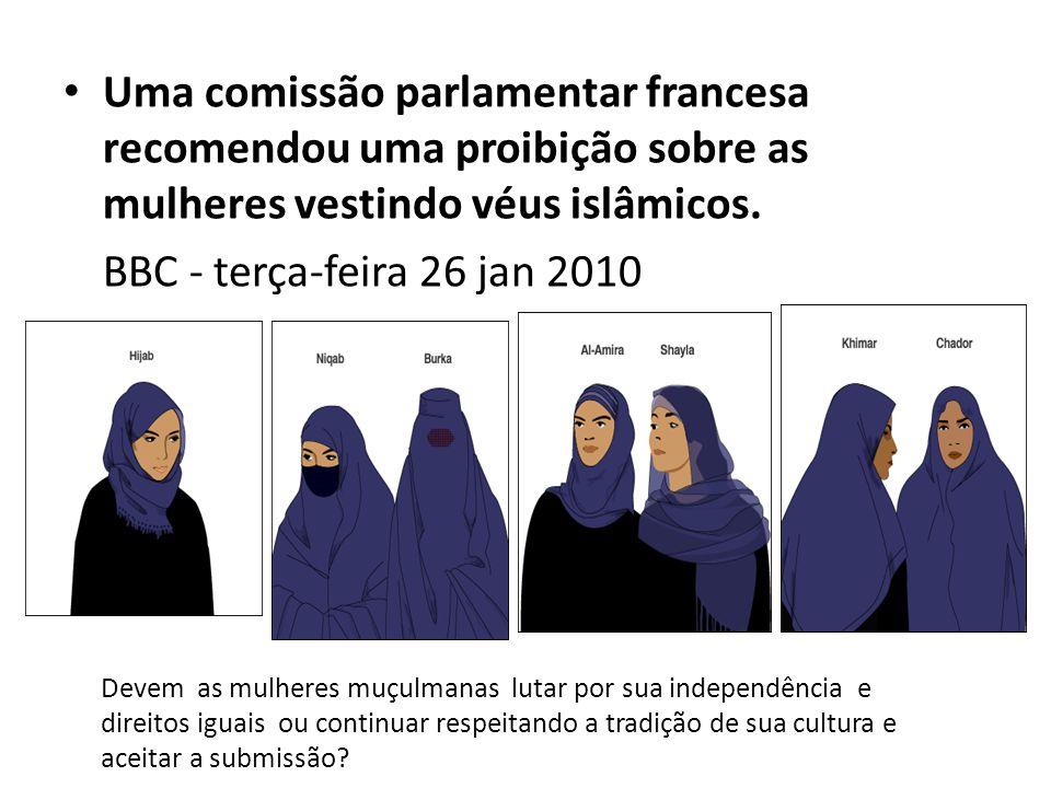Uma comissão parlamentar francesa recomendou uma proibição sobre as mulheres vestindo véus islâmicos.