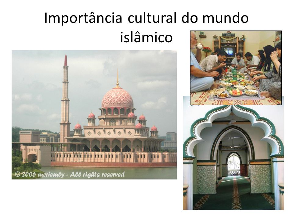 Importância cultural do mundo islâmico