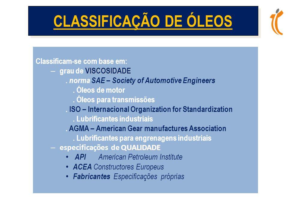 CLASSIFICAÇÃO DE ÓLEOS