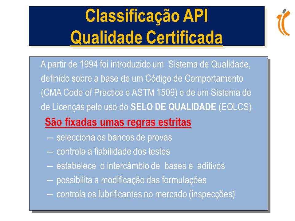 Classificação API Qualidade Certificada