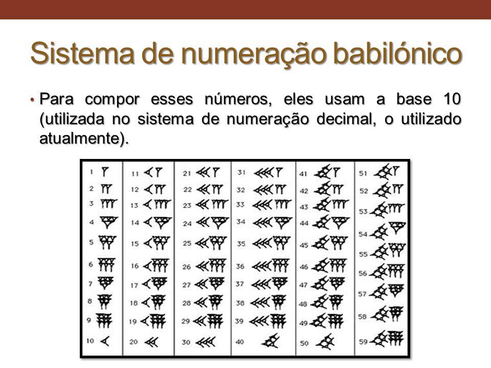 Sistema de numeração babilónico