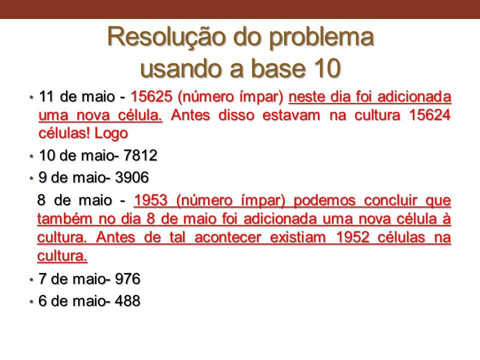 Resolução do problema usando a base 10