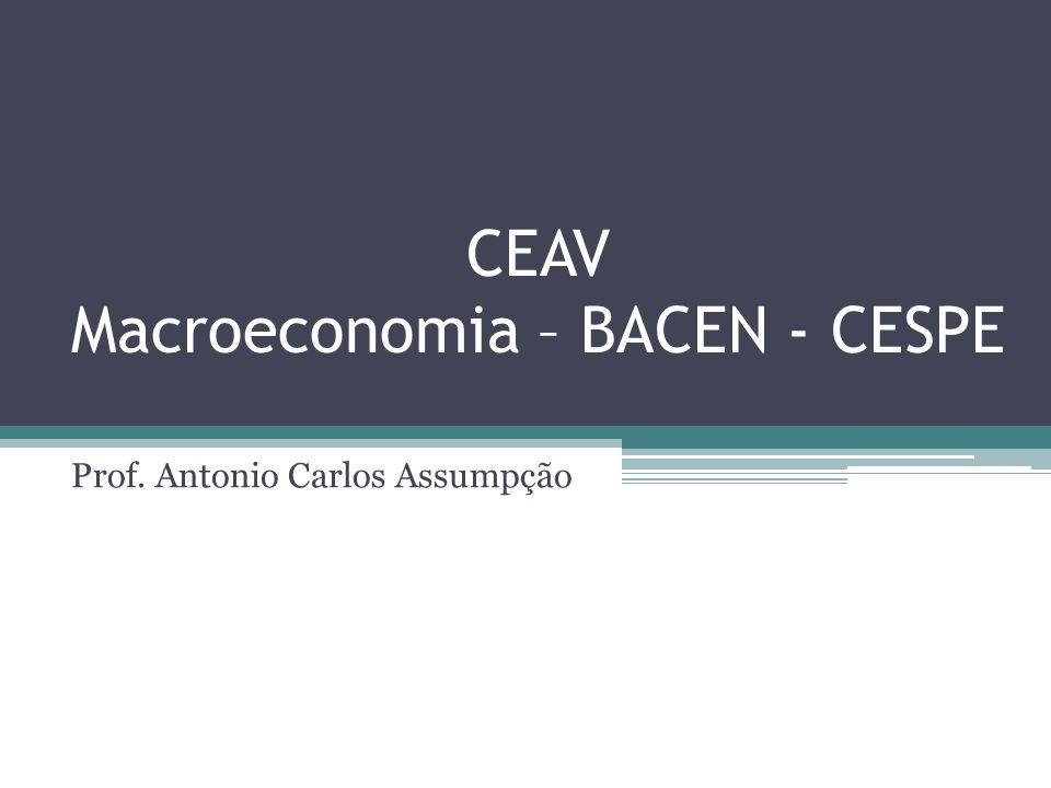 CEAV Macroeconomia – BACEN - CESPE