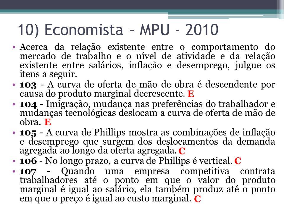10) Economista – MPU - 2010