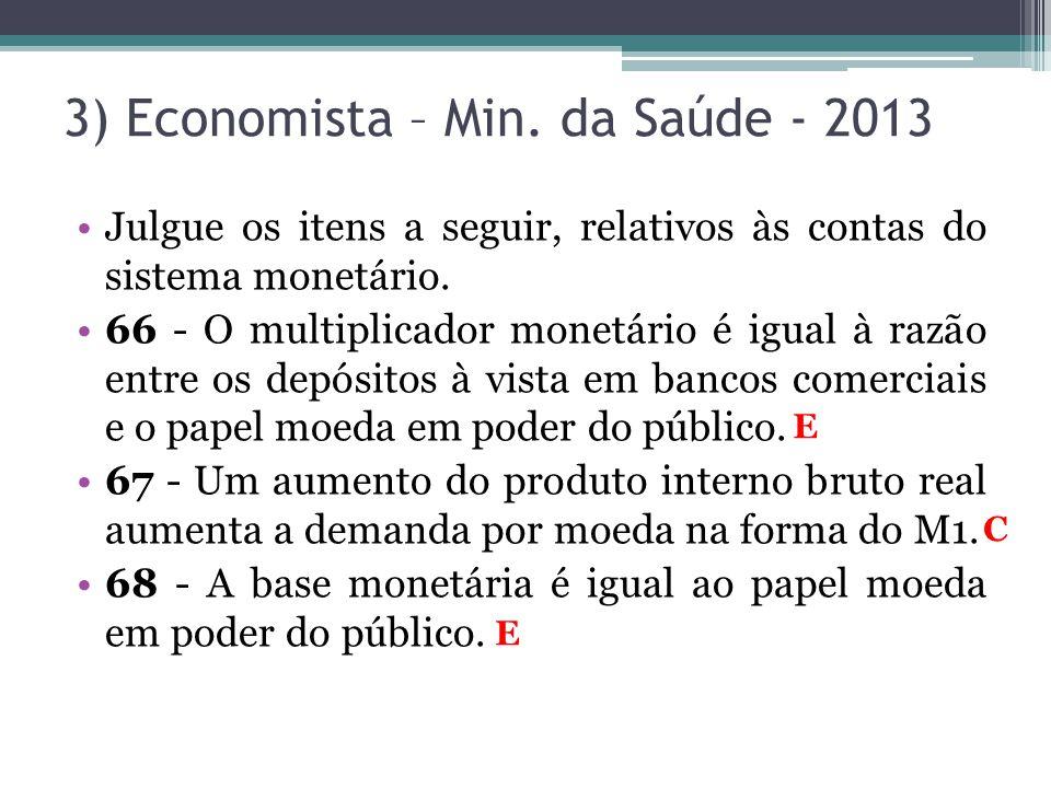 3) Economista – Min. da Saúde - 2013
