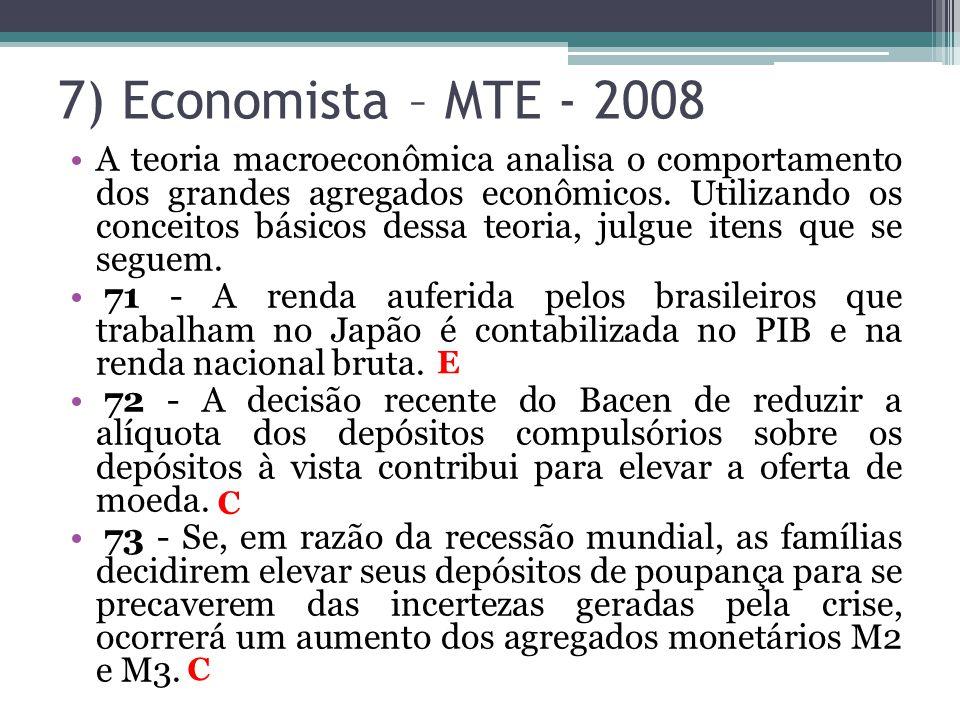 7) Economista – MTE - 2008