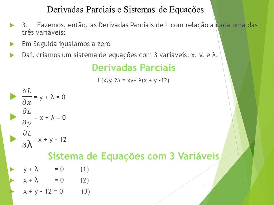 Sistema de Equações com 3 Variáveis