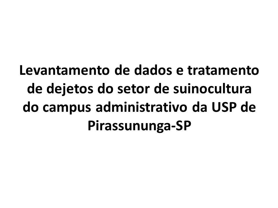 Levantamento de dados e tratamento de dejetos do setor de suinocultura do campus administrativo da USP de Pirassununga-SP