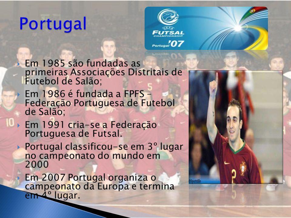 Portugal Em 1985 são fundadas as primeiras Associações Distritais de Futebol de Salão;