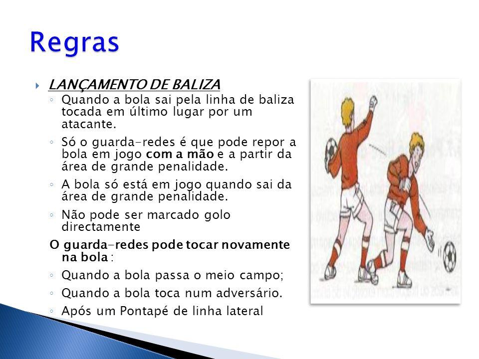Regras LANÇAMENTO DE BALIZA