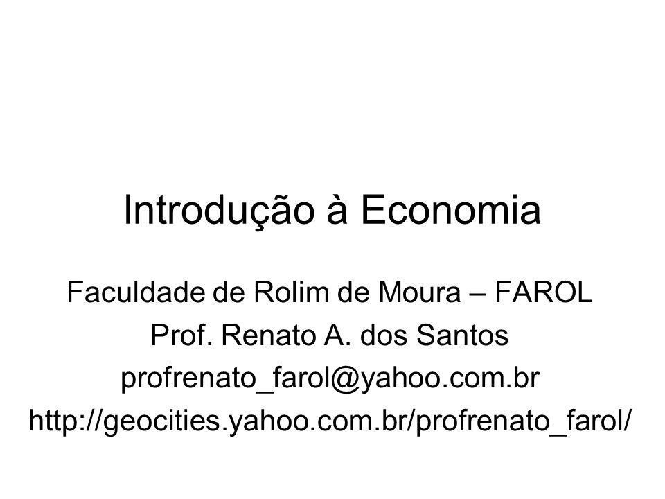 Introdução à Economia Faculdade de Rolim de Moura – FAROL