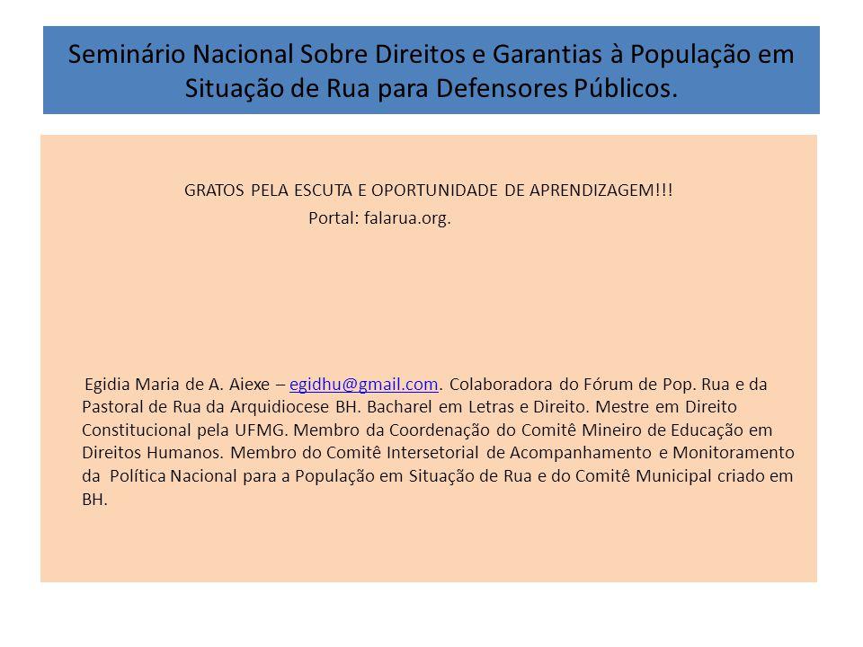 GRATOS PELA ESCUTA E OPORTUNIDADE DE APRENDIZAGEM!!!