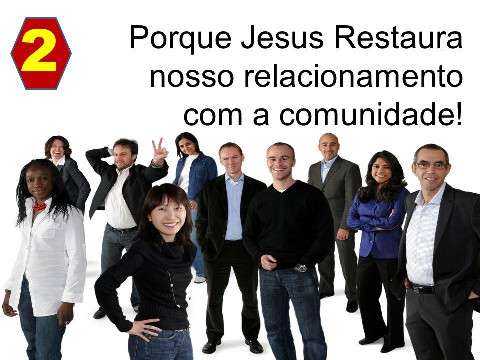 2 Porque Jesus Restaura nosso relacionamento com a comunidade!