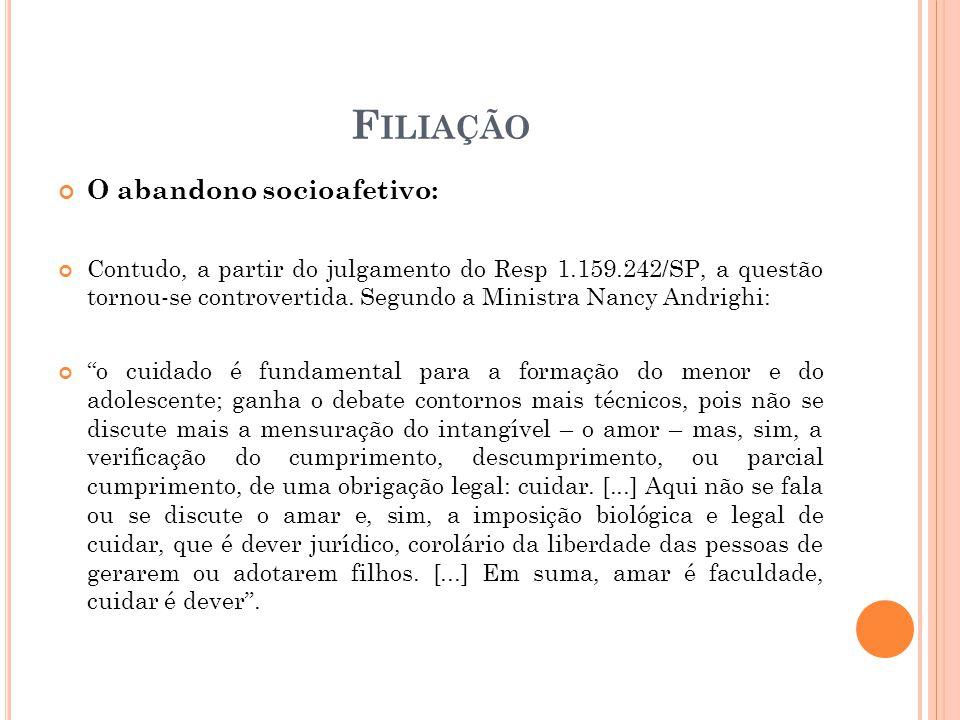 Filiação O abandono socioafetivo: