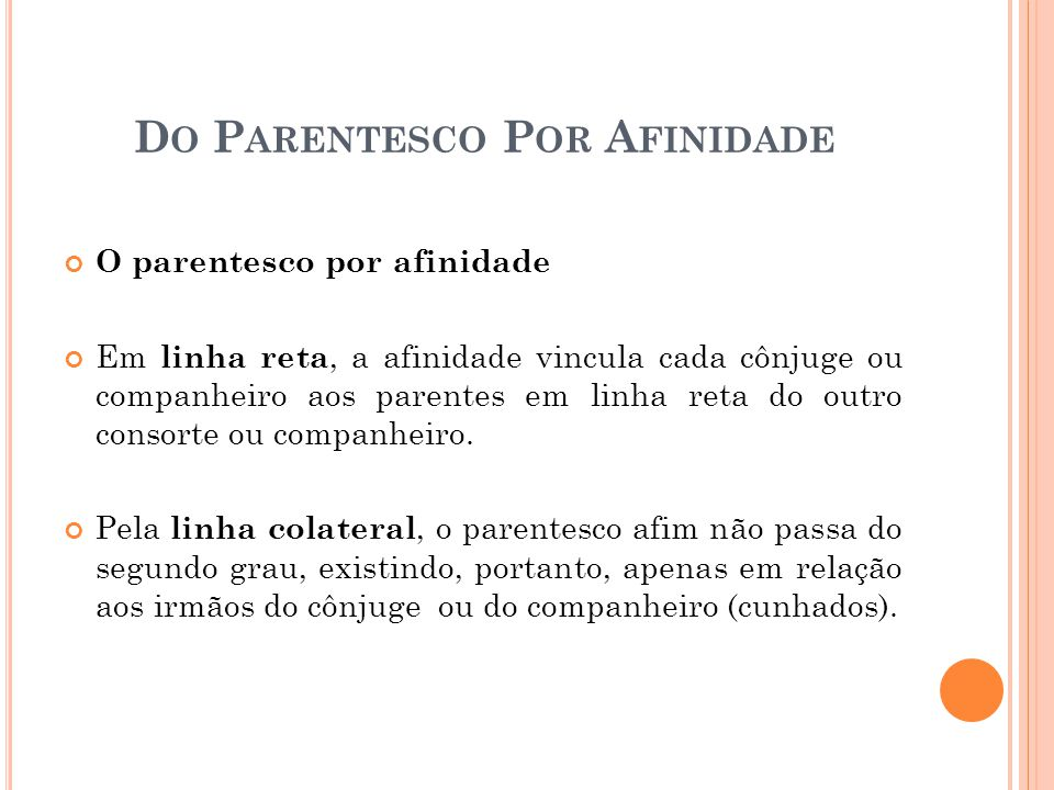 Do Parentesco Por Afinidade