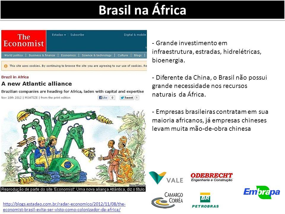 Brasil na África - Grande investimento em infraestrutura, estradas, hidrelétricas, bioenergia.