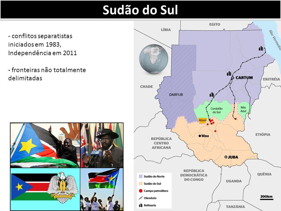 Sudão do Sul conflitos separatistas iniciados em 1983, Independência em 2011.