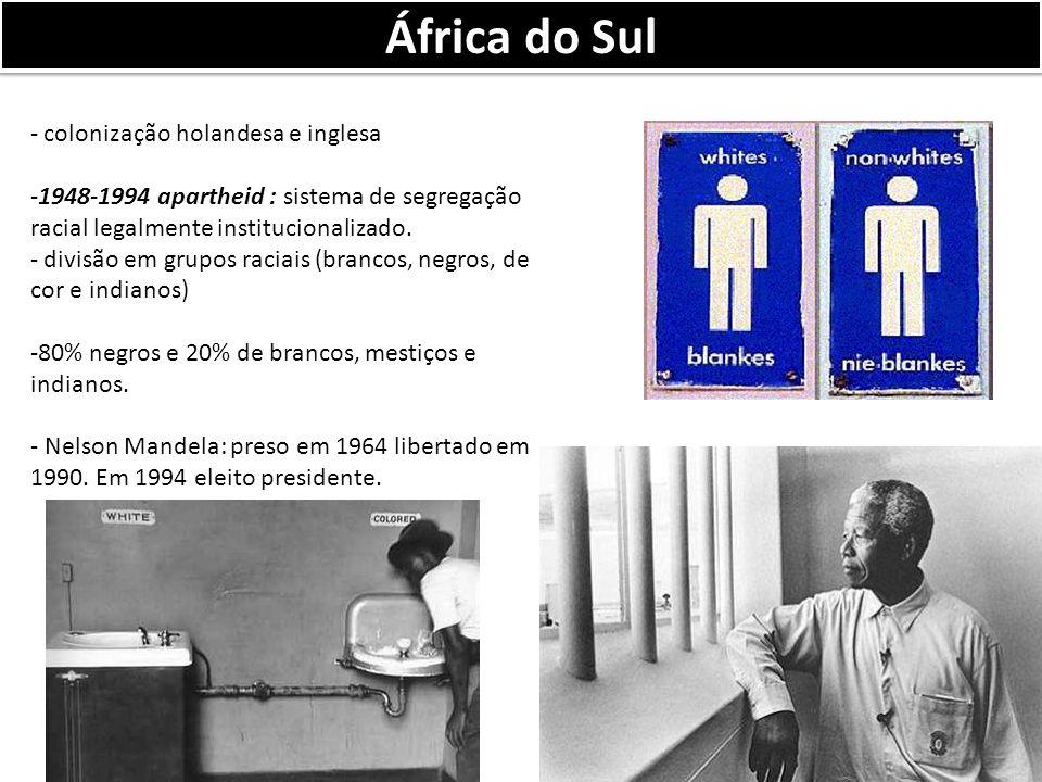 África do Sul colonização holandesa e inglesa