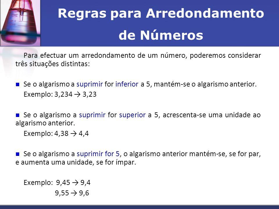 Regras para Arredondamento de Números
