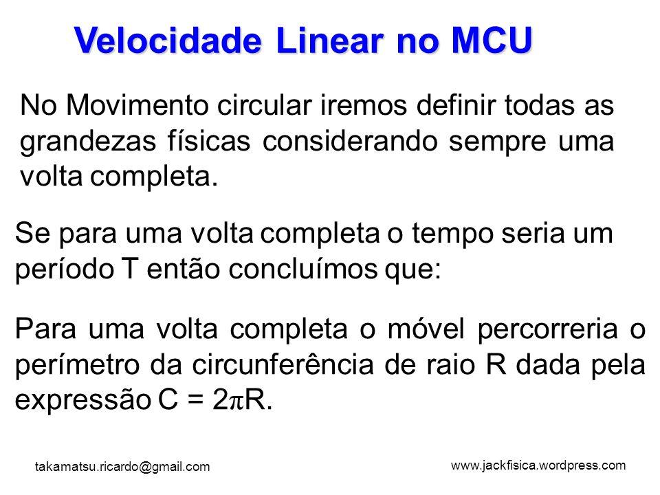 Velocidade Linear no MCU