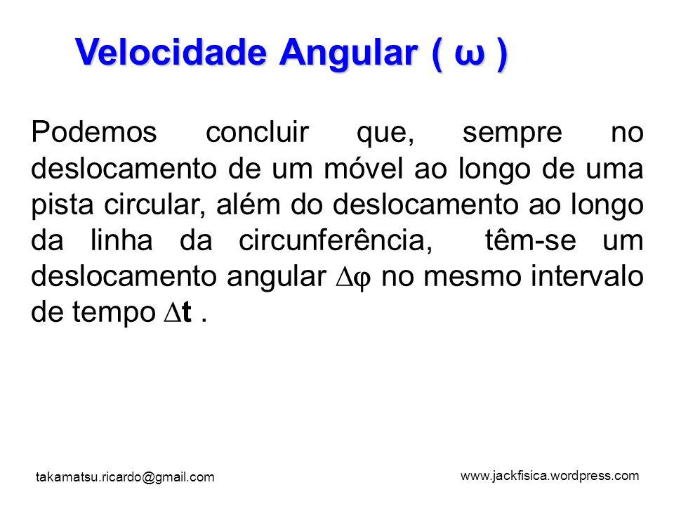 Velocidade Angular ( ω )
