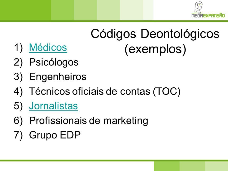 Códigos Deontológicos (exemplos)