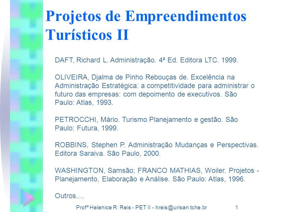 Projetos de Empreendimentos Turísticos II