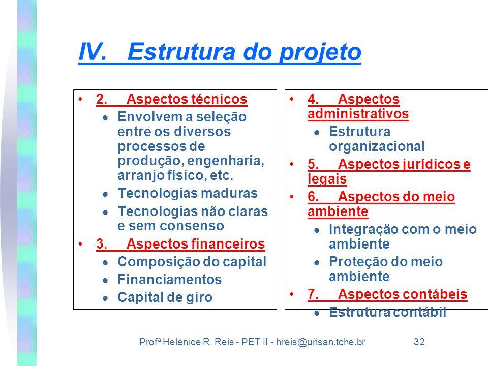 IV. Estrutura do projeto