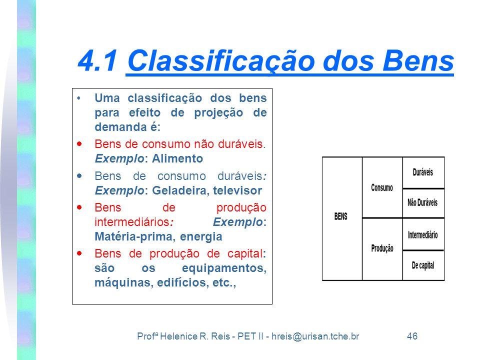 4.1 Classificação dos Bens