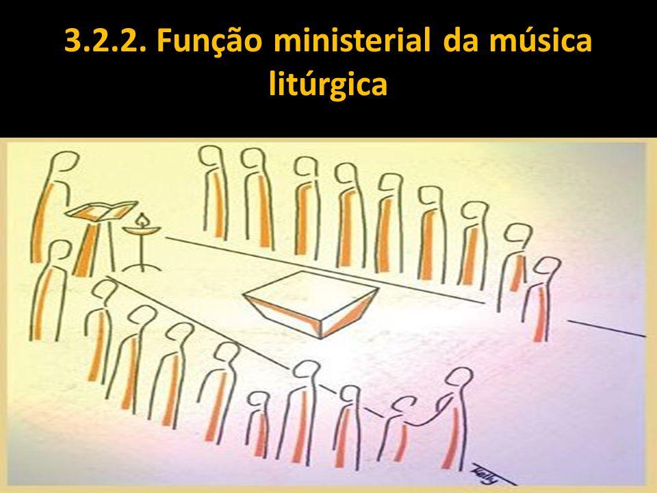 3.2.2. Função ministerial da música litúrgica
