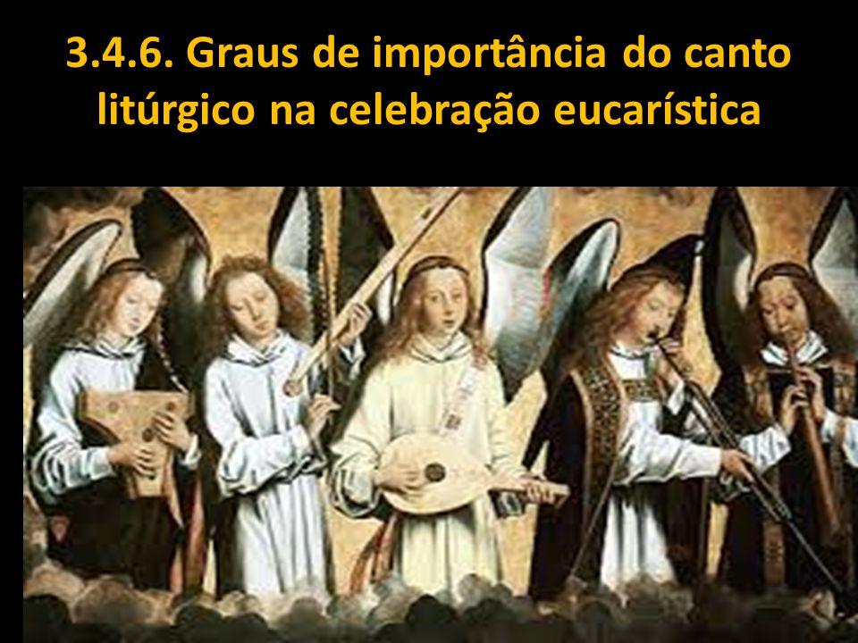 3.4.6. Graus de importância do canto litúrgico na celebração eucarística