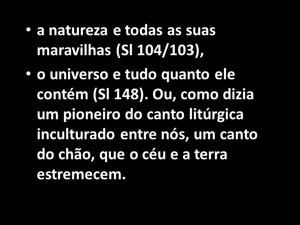 a natureza e todas as suas maravilhas (Sl 104/103),