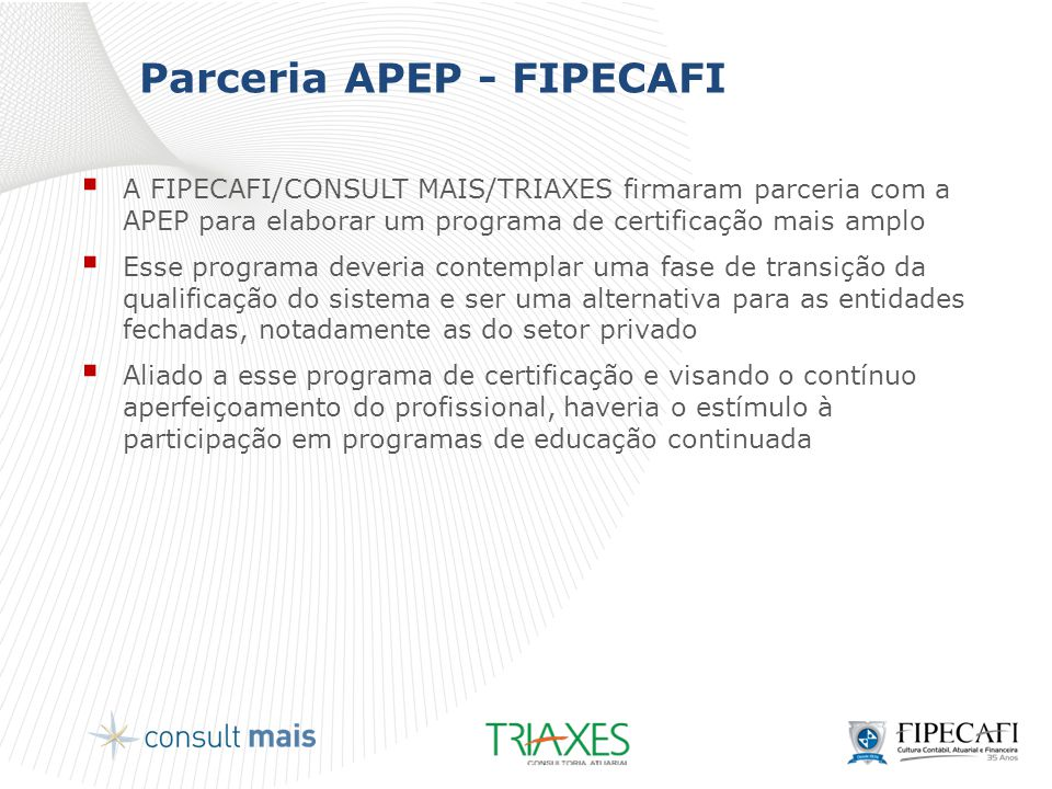 Parceria APEP - FIPECAFI