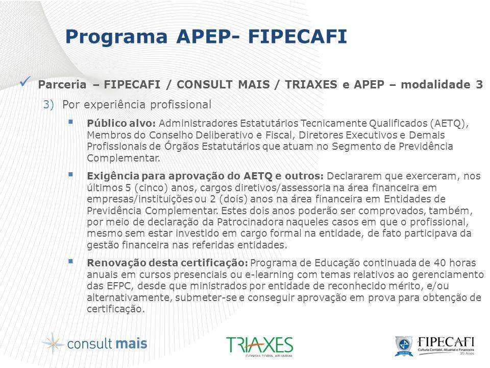 Programa APEP- FIPECAFI