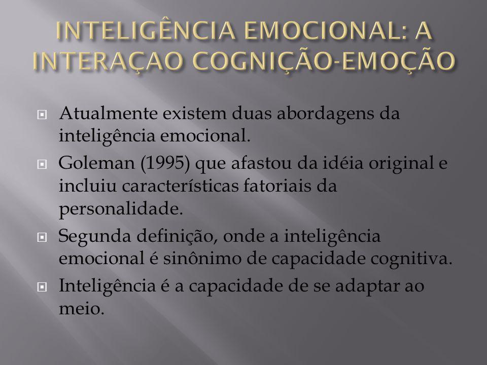 INTELIGÊNCIA EMOCIONAL: A INTERAÇAO COGNIÇÃO-EMOÇÃO