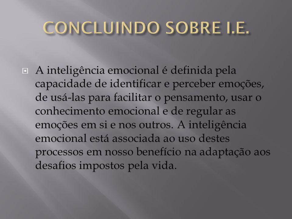 CONCLUINDO SOBRE I.E.