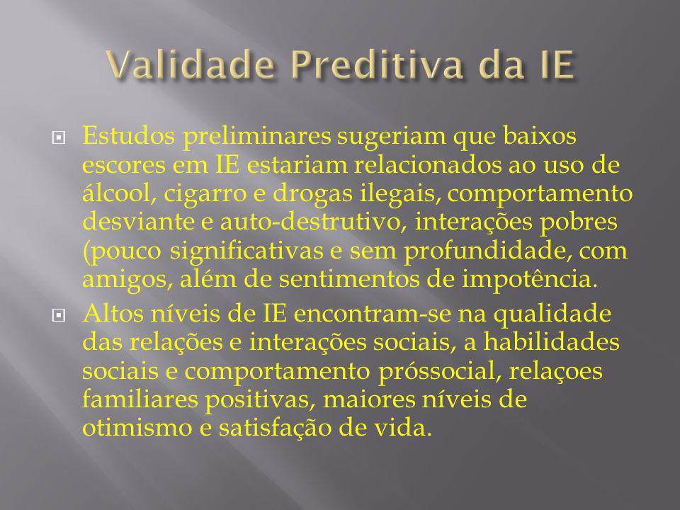 Validade Preditiva da IE