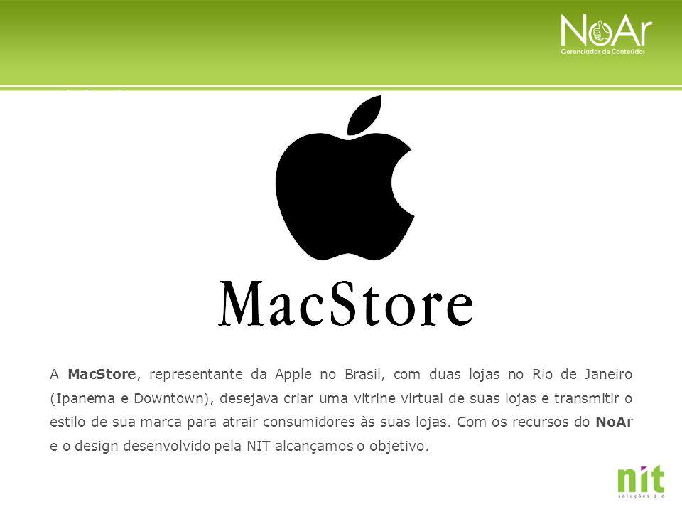 A MacStore, representante da Apple no Brasil, com duas lojas no Rio de Janeiro (Ipanema e Downtown), desejava criar uma vitrine virtual de suas lojas e transmitir o estilo de sua marca para atrair consumidores às suas lojas.