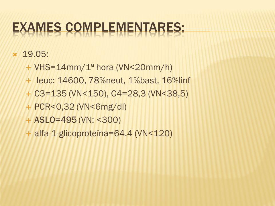 Exames complementares: