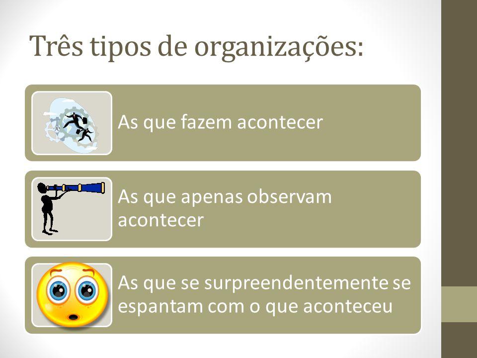 Três tipos de organizações: