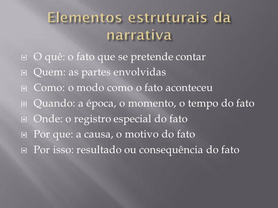 Elementos estruturais da narrativa