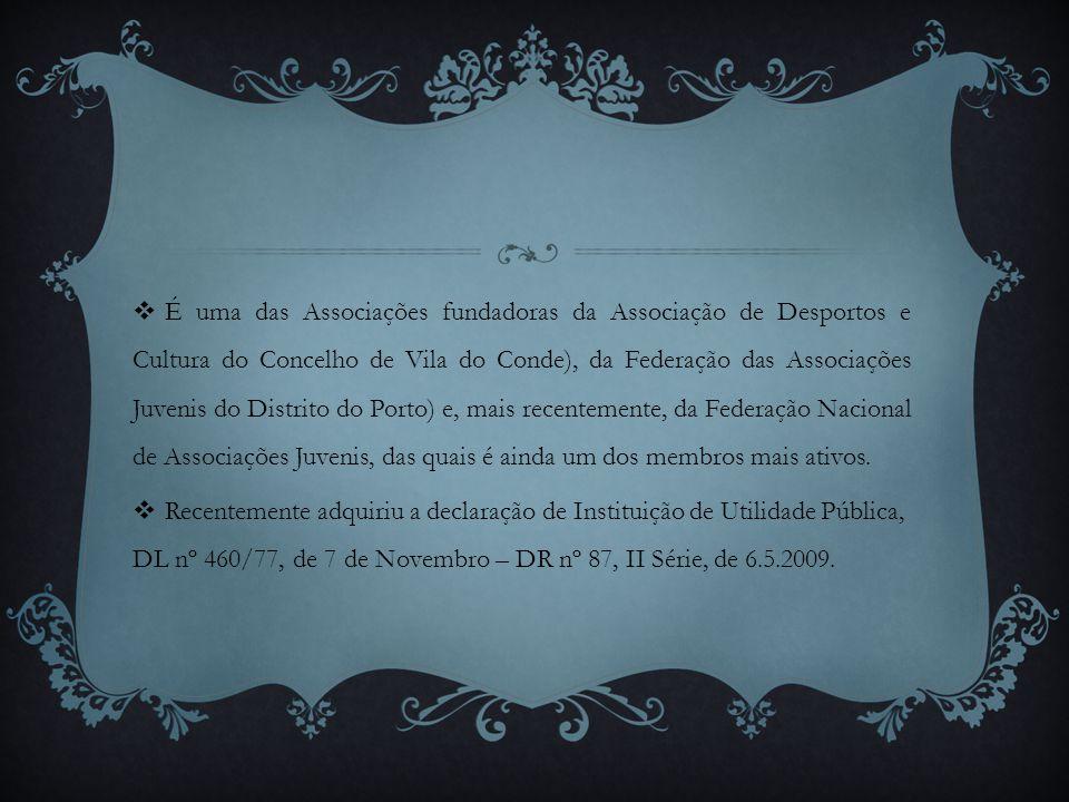 É uma das Associações fundadoras da Associação de Desportos e Cultura do Concelho de Vila do Conde), da Federação das Associações Juvenis do Distrito do Porto) e, mais recentemente, da Federação Nacional de Associações Juvenis, das quais é ainda um dos membros mais ativos.